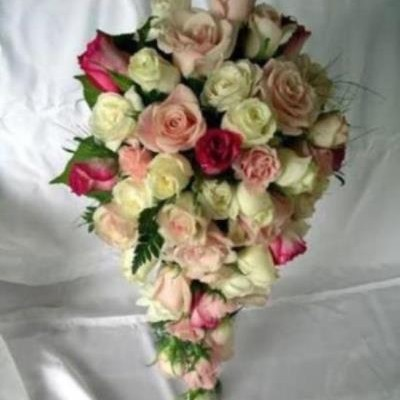 roses in bouquet